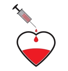 Creative world blood donor vector