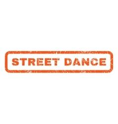 Street dance rubber stamp vector