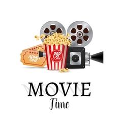 Cinema movie poster design template filmstrip vector