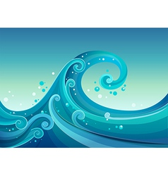 High waves at the sea vector