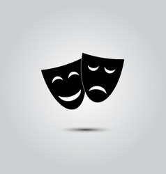 Happy and sad theater masks vector
