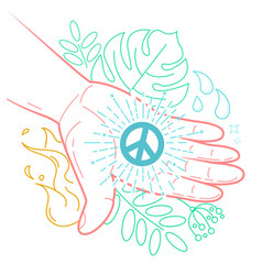 Hand with the symbol of peace vector