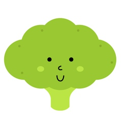 Beautiful cute carton broccoli character vector