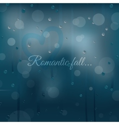 Rainy autumn romantic background vector