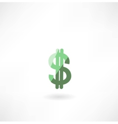 Dollar icon vector image