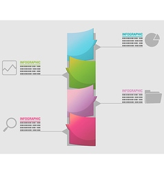 Business timeline elements workflow template vector