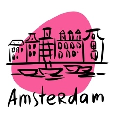 Amsterdam the capital of holland vector