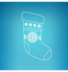 Christmas sock on a blue background vector