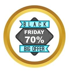 70 black friday sale icon vector