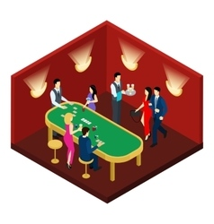 Casino and cards isometric vector