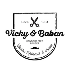 Vicky and baban badge vector