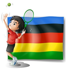 Olympics flag with tennis player vector