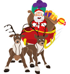 an of santa claus riding in his vector image vector image