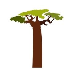 Baobab tree icon flat style vector