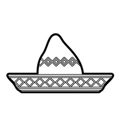 beach hat vector image