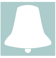 Bell the white color icon vector
