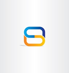 blue orange letter s logo symbol design logotype vector image