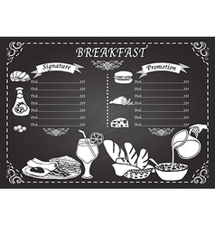 Breakfast set design elements vector image vector image