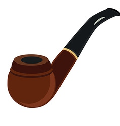 Brown smoking pipe vector image vector image