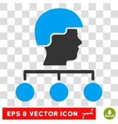 Builder management links eps icon vector
