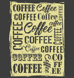 coffee shop poster vector image