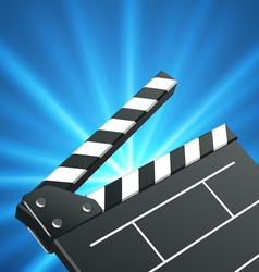 film clap board vector image