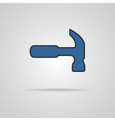 Hammer Silhouette on a grey background vector image