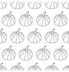 Hand Drawn Ink Halloween Seamless Pattern vector image