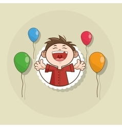 Happy birthday and kid design vector image