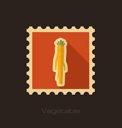 Horseradish flat stamp vegetable root vector