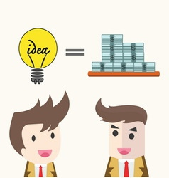 idea change for money concept vector image