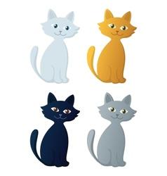 Kitten set vector image vector image