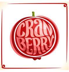 Logo for cranberry vector