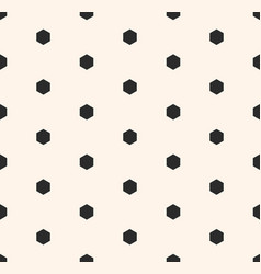 Minimalist seamless pattern with small hexagons vector