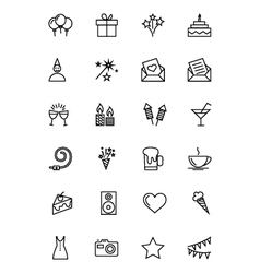 Party and celebration icons 1 vector