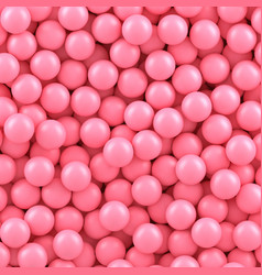 pink candy balls background vector image