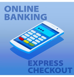 Quick payments using a mobile phone vector