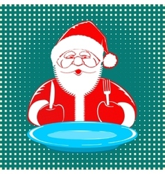 Santa claus comic style design on dotted vector