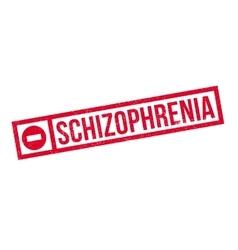 Schizophrenia rubber stamp vector