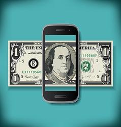 Smartphone Money vector image vector image