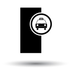 Taxi station icon vector