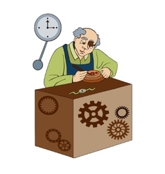 watchmaker on a white background vector image vector image