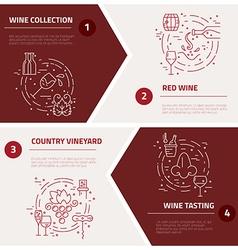 Wine industry concepts vector