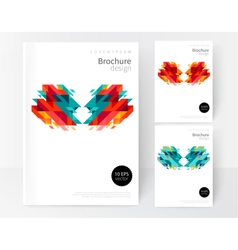 Minimalistic white cover brochure design vector