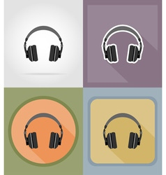 Music items and equipment flat icons 11 vector