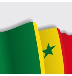 Senegalese waving flag vector