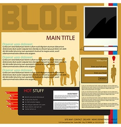 Blog interface vector