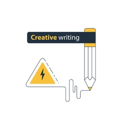 Creative writing and storytelling education vector