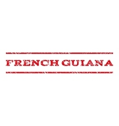French guiana watermark stamp vector