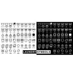 Icon set of laundry symbols vector